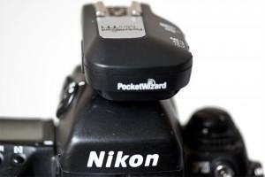 Nikon F5 met Canon Pocketwizard TT1